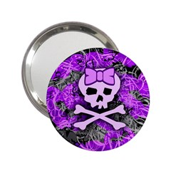 Purple Girly Skull Handbag Mirror (2 25 )