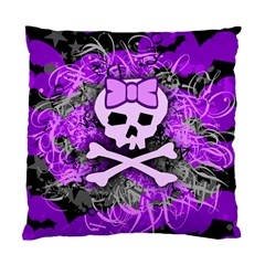 Purple Girly Skull Cushion Case (single Sided)