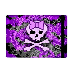 Purple Girly Skull Apple Ipad Mini Flip Case