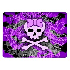 Purple Girly Skull Samsung Galaxy Tab 10 1  P7500 Flip Case by ArtistRoseanneJones