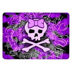 Purple Girly Skull Samsung Galaxy Tab 8 9  P7300 Flip Case