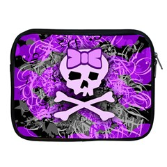 Purple Girly Skull Apple Ipad Zippered Sleeve