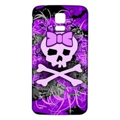 Purple Girly Skull Samsung Galaxy S5 Back Case (white)