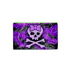 Purple Girly Skull Cosmetic Bag (xs)