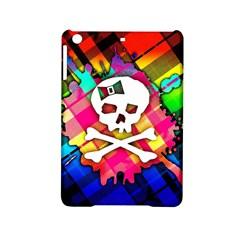 Rainbow Plaid Skull Apple Ipad Mini 2 Hardshell Case