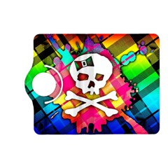 Rainbow Plaid Skull Kindle Fire Hd (2013) Flip 360 Case by ArtistRoseanneJones