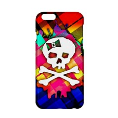 Rainbow Plaid Skull Apple Iphone 6 Hardshell Case
