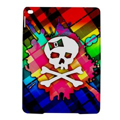 Rainbow Plaid Skull Apple Ipad Air 2 Hardshell Case by ArtistRoseanneJones