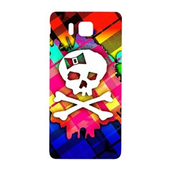 Rainbow Plaid Skull Samsung Galaxy Alpha Hardshell Back Case