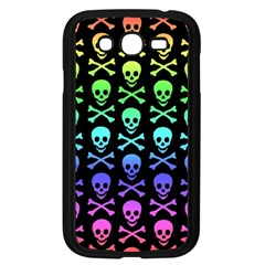 Rainbow Skull And Crossbones Pattern Samsung Galaxy Grand Duos I9082 Case (black) by ArtistRoseanneJones