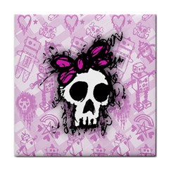 Sketched Skull Princess Ceramic Tile by ArtistRoseanneJones