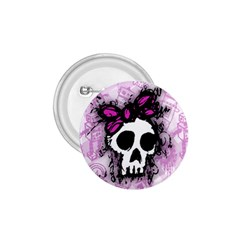Sketched Skull Princess 1 75  Button by ArtistRoseanneJones