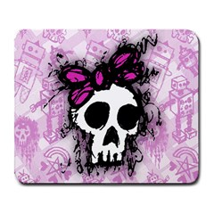 Sketched Skull Princess Large Mouse Pad (rectangle) by ArtistRoseanneJones