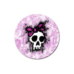 Sketched Skull Princess Magnet 3  (Round)