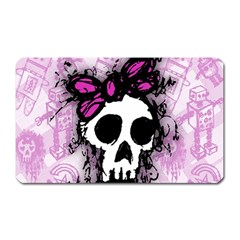 Sketched Skull Princess Magnet (rectangular) by ArtistRoseanneJones