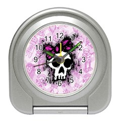 Sketched Skull Princess Desk Alarm Clock by ArtistRoseanneJones