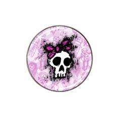 Sketched Skull Princess Golf Ball Marker 4 Pack (for Hat Clip)