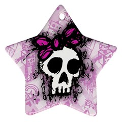 Sketched Skull Princess Star Ornament (two Sides) by ArtistRoseanneJones
