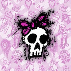 Sketched Skull Princess Canvas 12  X 12  (unframed) by ArtistRoseanneJones