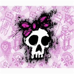 Sketched Skull Princess Canvas 20  X 24  (unframed) by ArtistRoseanneJones