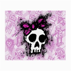 Sketched Skull Princess Glasses Cloth (small, Two Sided) by ArtistRoseanneJones