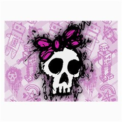 Sketched Skull Princess Glasses Cloth (large, Two Sided) by ArtistRoseanneJones