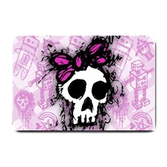 Sketched Skull Princess Small Door Mat by ArtistRoseanneJones