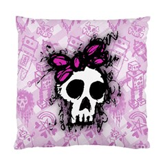 Sketched Skull Princess Cushion Case (single Sided)  by ArtistRoseanneJones