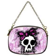 Sketched Skull Princess Chain Purse (Two Sided)