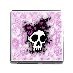 Sketched Skull Princess Memory Card Reader With Storage (square) by ArtistRoseanneJones