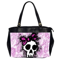 Sketched Skull Princess Oversize Office Handbag (two Sides) by ArtistRoseanneJones