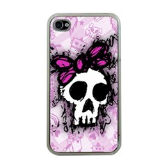 Sketched Skull Princess Apple Iphone 4 Case (clear) by ArtistRoseanneJones