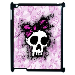 Sketched Skull Princess Apple Ipad 2 Case (black) by ArtistRoseanneJones
