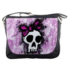 Sketched Skull Princess Messenger Bag