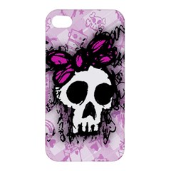 Sketched Skull Princess Apple Iphone 4/4s Premium Hardshell Case by ArtistRoseanneJones