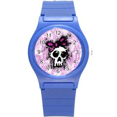 Sketched Skull Princess Plastic Sport Watch (small) by ArtistRoseanneJones