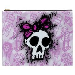 Sketched Skull Princess Cosmetic Bag (XXXL)