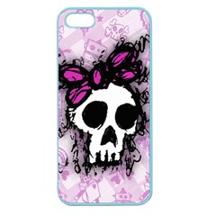 Sketched Skull Princess Apple Seamless Iphone 5 Case (color) by ArtistRoseanneJones