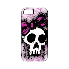 Sketched Skull Princess Apple Iphone 5 Classic Hardshell Case (pc+silicone) by ArtistRoseanneJones