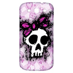 Sketched Skull Princess Samsung Galaxy S3 S Iii Classic Hardshell Back Case by ArtistRoseanneJones