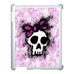 Sketched Skull Princess Apple Ipad 3/4 Case (white) by ArtistRoseanneJones