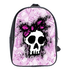 Sketched Skull Princess School Bag (xl) by ArtistRoseanneJones