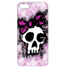 Sketched Skull Princess Apple Iphone 5 Hardshell Case With Stand by ArtistRoseanneJones