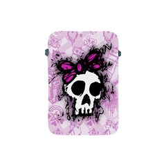 Sketched Skull Princess Apple Ipad Mini Protective Sleeve by ArtistRoseanneJones