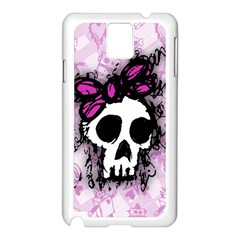 Sketched Skull Princess Samsung Galaxy Note 3 N9005 Case (White)