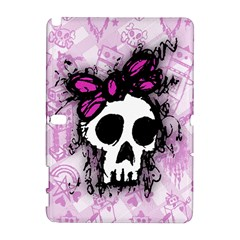 Sketched Skull Princess Samsung Galaxy Note 10 1 (p600) Hardshell Case by ArtistRoseanneJones