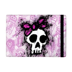 Sketched Skull Princess Apple Ipad Mini 2 Flip Case by ArtistRoseanneJones