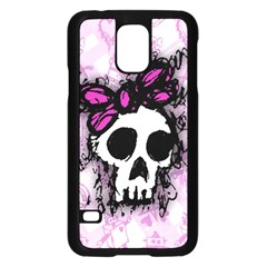 Sketched Skull Princess Samsung Galaxy S5 Case (black) by ArtistRoseanneJones