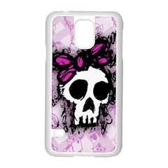 Sketched Skull Princess Samsung Galaxy S5 Case (white) by ArtistRoseanneJones