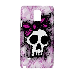 Sketched Skull Princess Samsung Galaxy Note 4 Hardshell Case by ArtistRoseanneJones
